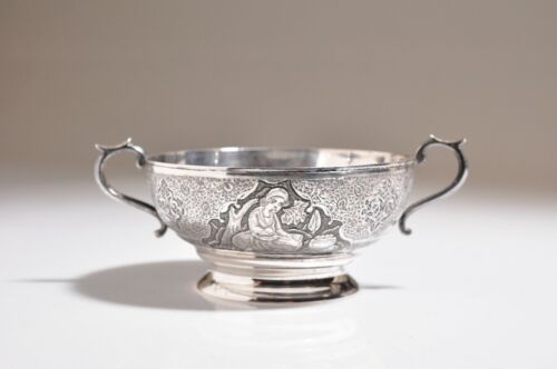 Vintage Persian Sterling Silver Bowl- Hallmarked