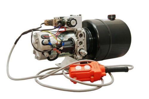 Hydraulic Pump Power Unit Double Acting 12V DC Dump Trailer 4 Quart with Remote