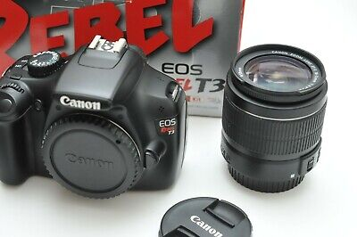 Canon EOS Rebel T3 DSLR Camera with EF-S 18-55mm IS II Lens Kit with Box