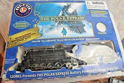 Lionel The Polar Express G Gauge Battery Powered Train Set 7-11022 New Open Box