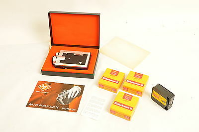 Super 8 Filmkamera Agfa Microflex sensor + 5 Filme + Zubehör
