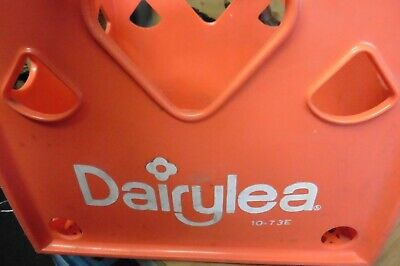 Vintage Dairylea Red Heart style Milk bottle crate Solid plastic sides