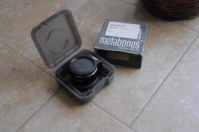 Metabones Nikon F lenses to Sony E adaptor