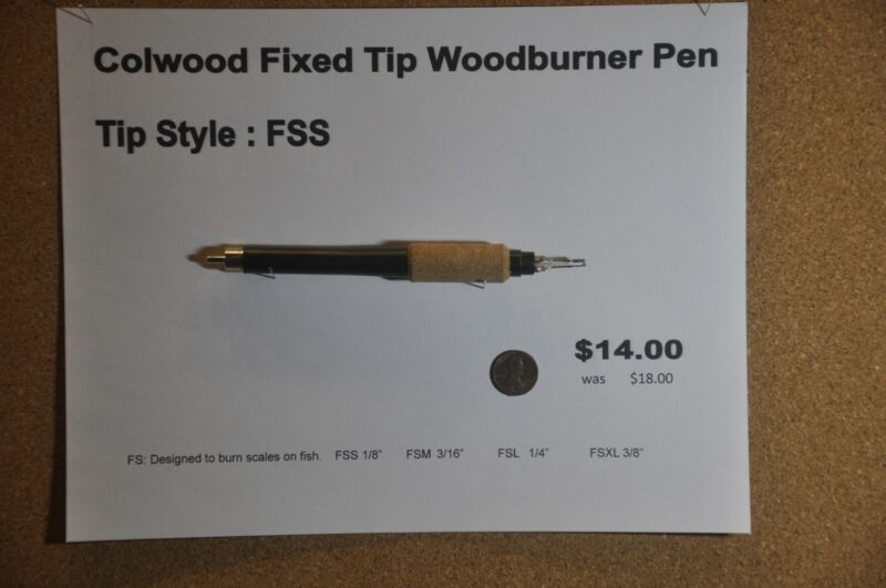 Colwood Fixed Tip Woodburner Pen Tip Style FSS