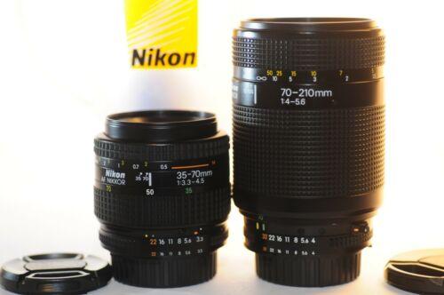 Nikon AF Nikkor 35-70mm & 70-210mm TWO FX lens SET for D7200 D300 D600 D800 D610