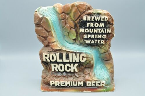RARE ROLLING ROCK BEER VINTAGE WATERFALL CHALK ADVERTISING SIGN