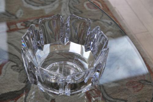 Signed Orrefors Crystal Large 7 1/4 Inch Corona Bowl