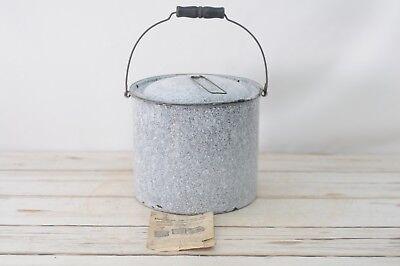 Graniteware Canner (Antique Cream City Graniteware Black Speckle Steamer Canner With Orig.)