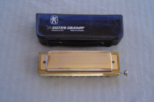 """""""SILVER SHADOW """"C"""" BY M. HOHNER AND ORIGINAL BLACK VINYL CASE"""