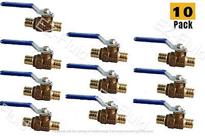 10pcs Heavy Duty 12 Pex Brass Full Port Water Stop Shutoff Ball Valve Lf Cupc