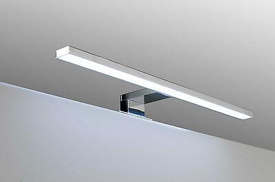 Lampada bagno faretto luce a LED per bordo specchio arredo bagno alluminio cromo