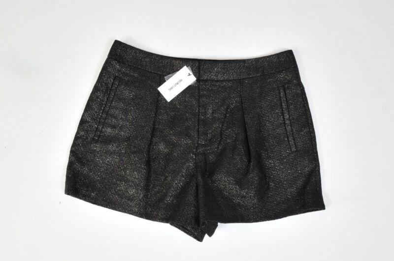 NEW Women's Helmut Lang Shorts Shy  black silver sparkle $255 Size 6 M