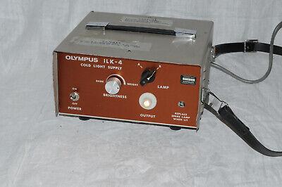 Olympus 150w Ilk-4 Cold Light Supply Borescope Fiber Optic Microscope Inspection