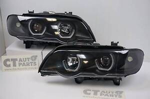 BMW X5******2003 E53 3D LED Halo Projector Headlights - Black Wetherill Park Fairfield Area Preview