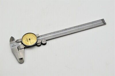 Mitutoyo Model No. 505-626 .001 Dial Caliper 6 Stainless Measuring Tool