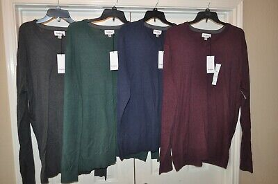 - GoodFellow & Co. Men's V Neck Long Sleeve Sweater Big and Tall Sizes Mult Colors