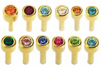 USA made Sterile 24K GOLD over Surgical Steel Ear Piercing E