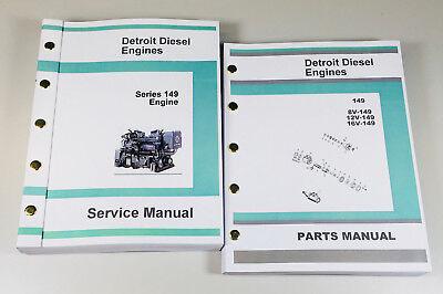 Detroit Diesel Motor Serie (Detroit Diesel Serie 149 Motor 8V 12V 16V Service Teile Manuell Geschäft Buch)
