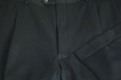 JB Britches Men's Black All Season Wool Pleated Dress Pants 40 x 34