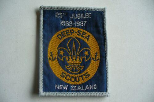 Boy Scouts New Zealand Deep Sea Scout 25th Jubilee 1962-1987 patch +