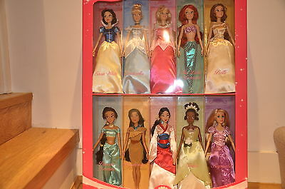 Wonderful Disney Princess Set of 10 Classic Dolls - Snow White, Cinderella etc