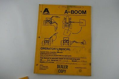 Alamo A Boom 20 Mower Owners Manual Parts List Catalog W Diagrams