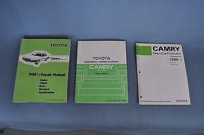 1988 1/2 Toyota Camry Factory OEM Service Shop Repair Manual Set Model VZV
