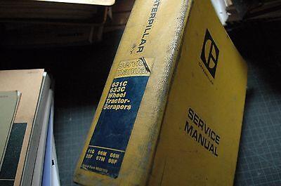 Cat Caterpillar 631C 633C Scraper Repair Shop Service Manual Owner Maintenance
