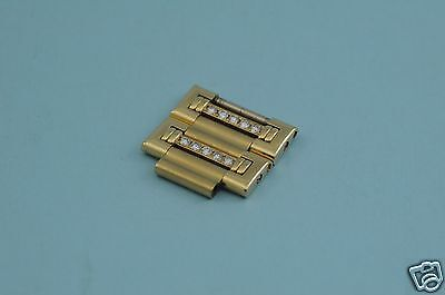 Piaget Dancer 18K yellow gold with Diamonds one link, 16mm wide, 7mm long, mint