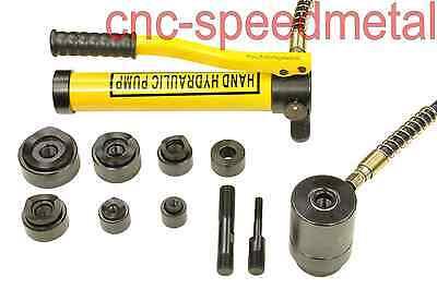 10t hydraulisch Blechlocher Lochstanze Zylinder  Hydraulikpumpe Set im Koffer