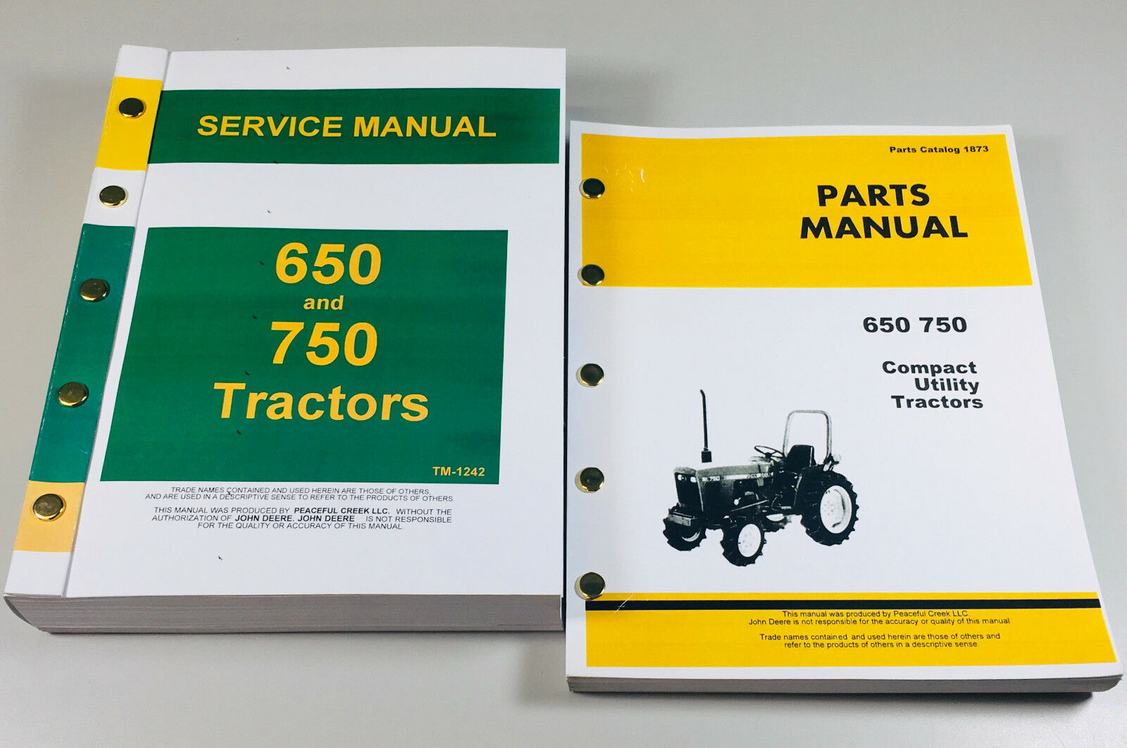 Complete Factory Service and Parts Manuals, Covers entire tractor.