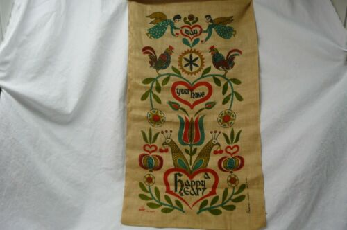 """Vtg """"WERT"""" by Hand """"COUNTRY PRINTS"""" 100% pure linen"""