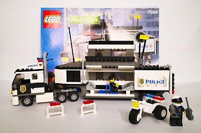 LEGO CITY 7034 CAMION POLICE POLIZIA SET COMPLETO 100 % CON MANUALE ANNO 2003