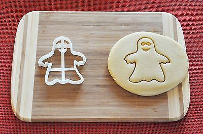 Halloween Ghost Happy Cookie Cutter Biscuit Stamp Cake Topper Fondant ()
