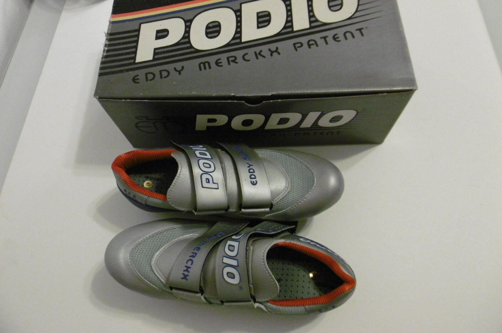 Eddy Merckx Patent Podio S.F.S.2000 Shoes Size 41 With Shoe Cleats New In Box