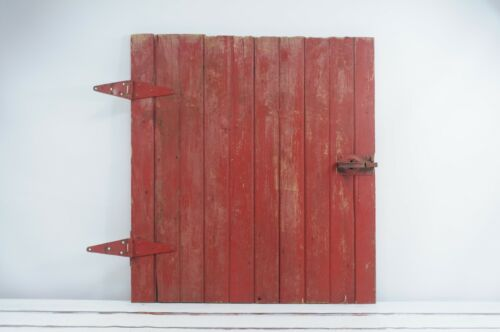 Antique./ Vintage Small Red Barn Door Farm Salvage Small Barn Stall Door