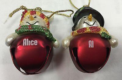 Snowman Ornament (Ganz Jingle Bell Snowman Name Ornament -
