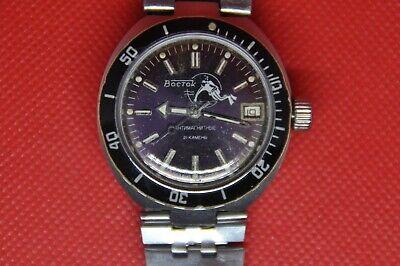 VINTAGE Soviet Vostok Amphibian Diver Automatic watch SCUBA DUDE 2416b Serviced