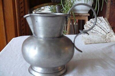 Very Nice Vintage Tin Jar 95% Tin