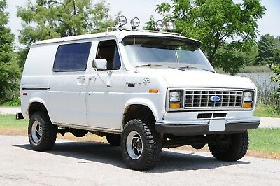 1987 Ford E-Series Van  Vintage Van 4x4 Baja Offroad Antique Classic Shorty Monster Mud Short Rare Truck