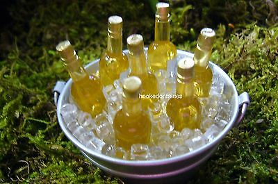 Tub O Beer on Ice Dollhouse Miniature Fairy Garden Faerie Gnome  Hobbit GO 17209
