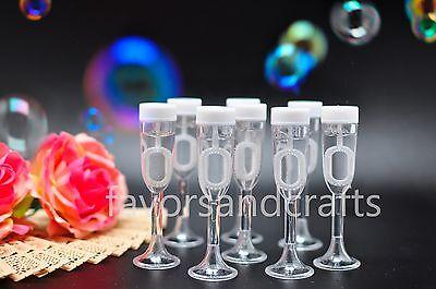 24 Wedding Bubbles Champagne Glass Bottles Wand Favors Decorations Favour Heart (Wedding Bubble Wands)