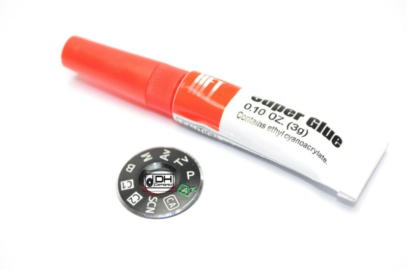 DIAL MODE PLATE INTERFACE CAP Canon 6D ORIGINAL OEM Part Repair + free glue