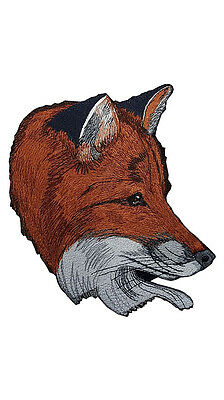 """Fox Head Large Embroidered Patch 7.4""""x8"""""""