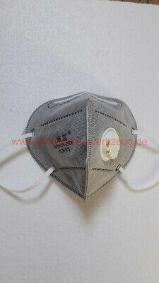 1 Stück waschbare 6-lagige KN95 = FFP2 Mundschutz Masken mit Ventil GB2626-2006