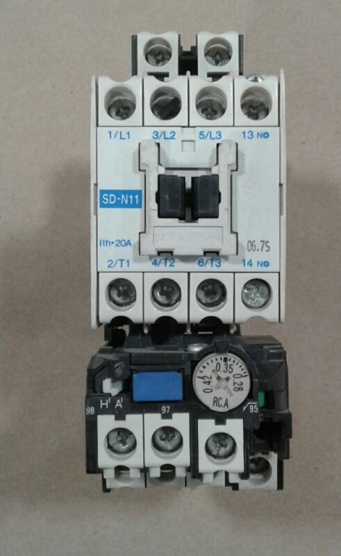 Mitsubishi SD-N11 Magnetic Contactor with TH-N12 Thermal Overload Relay #040A11