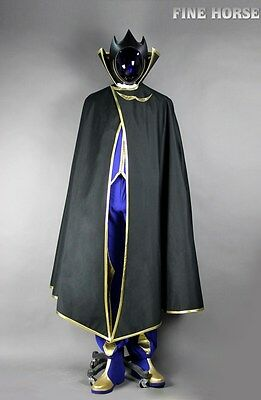 CODE GEASS Lelouch Zero Cosplay costume Kostüm with Mask Shoes Schuhe Maske - Code Geass Zero Kostüm