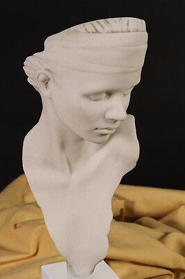 Ubiquity, Female Marble Bust, Modern Art sculpture. Art, Gift, Ornament.