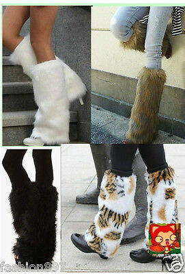 Women's Fluffy Faux Fur Fashion/Dance party Leg Warmers Muffs Boot Covers 40cm](Fluffy Boot Covers)