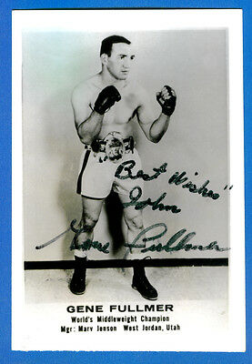 GENE FULLMER autographed B & W Picture (World Middleweight Champion)